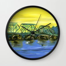 New Hope-Lambertville Bridge Wall Clock
