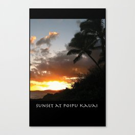 Sunset at Poipu Kauai Canvas Print