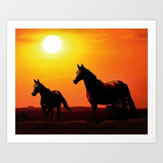Sunset Beauties Art Print