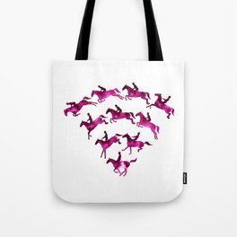 Connected to Showjumping (Magenta) Tote Bag