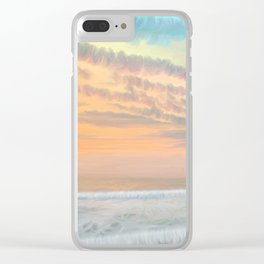 Frozen waves Clear iPhone Case