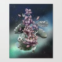 lotus flower Canvas Prints featuring Lotus by Marine Loup