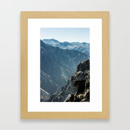 Colca Vertical Framed Art Print
