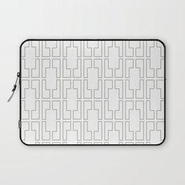Simply Mid-Century Retro Gray on White Laptop Sleeve