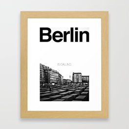 Berlin is Calling Framed Art Print