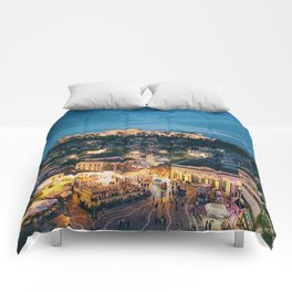 Athens Greece at Dusk Comforters