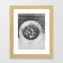 cigs Framed Art Print