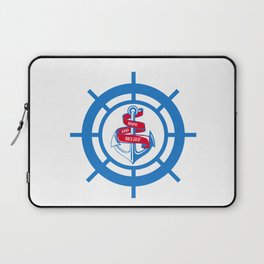 Anchor and steering wheel Laptop Sleeve