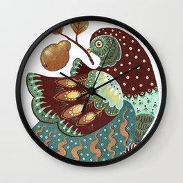 A Partridge In A Pear Tree II Wall Clock