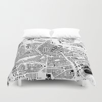 amsterdam Duvet Covers featuring AMSTERDAM by Maps Factory