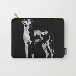 Harlequin Great Dane  -pearl and silver Carry-All Pouch
