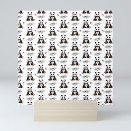 Garden Panda Pattern Mini Art Print