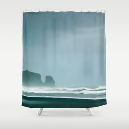 New Zealand, Bethells Beach Shower Curtain