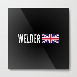 Welder: British Flag Metal Print