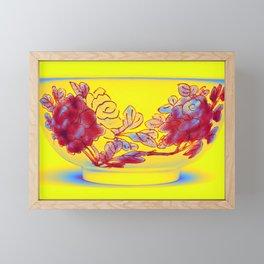 A FAMILLE-VERTE BISCUIT BOWL Neon art by Ahmet Asar Framed Mini Art Print