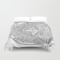 swimming Duvet Covers featuring Swimming by Alexandra Love + Beautiful Chorus