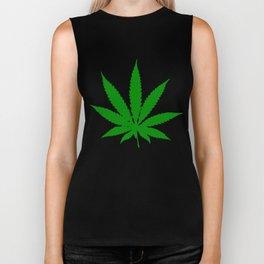 Cannabis Leaf Biker Tank