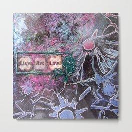 Mixed Media shimmery art Metal Print