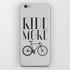 RIDE MORE BIKE_ iPhone & iPod Skin