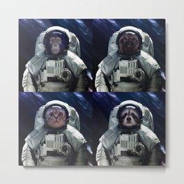 animals astronaut in the Milky way galaxy Metal Print