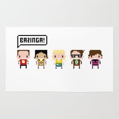 The Big Bang Theory Pixel Characters Rug