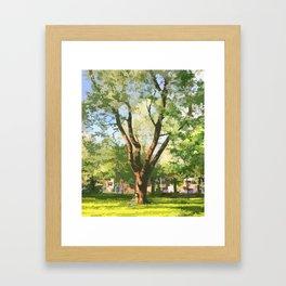 Under a tree Framed Art Print
