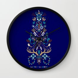 La Vie & La Mort – Navy Wall Clock