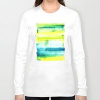 swimming Long Sleeve T-shirts featuring Swimming Upstream by Picomodi