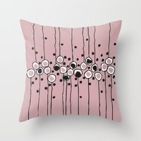 art deco Throw Pillows featuring art deco by Ioana Luscov