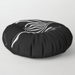 0686-AR BW Contemporary Art Nude Large Woman BBW Graceful and Strong Floor Pillow