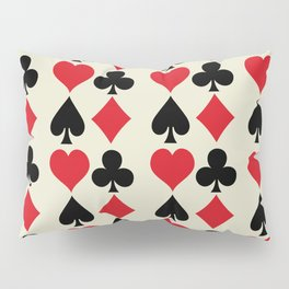 Playing Card Suits Print Pillow Sham
