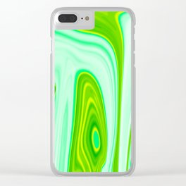 Abstract Fluid 10 Clear iPhone Case