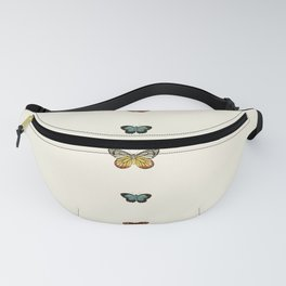 Butterfly Collage Vertical Fanny Pack