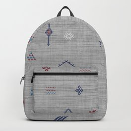 Cactus Silk Pattern in Grey Backpack