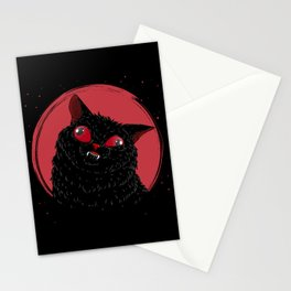 Derpy Black Cat Stationery Cards