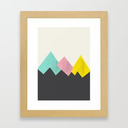 Pastel Mountains III Framed Art Print