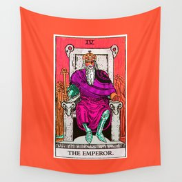 4. The Emperor- Neon Dreams Tarot Wall Tapestry