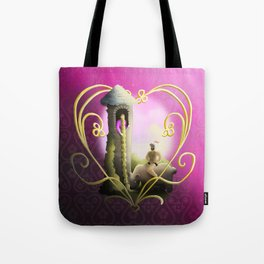 A Knight in Furry Armor Tote Bag