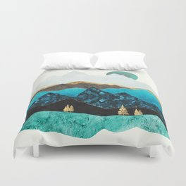 Teal Afternoon Duvet Cover