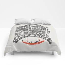 Venice Cityscape Comforters