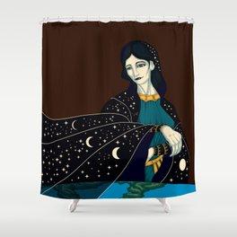 Nyx - Goddess of the Night Shower Curtain