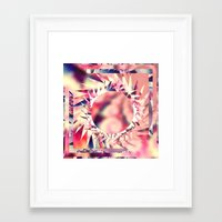trippy Framed Art Prints featuring Trippy  by Pink Berry Patterns