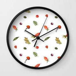 Autumn elements Wall Clock