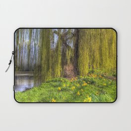 Daffodils and Willow Tree Laptop Sleeve