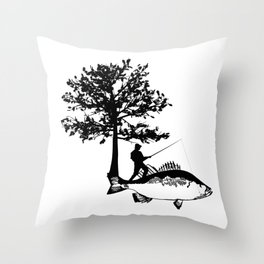 Fisherman Gifts For Dad Boyfriend Men Fishing Throw Pillow