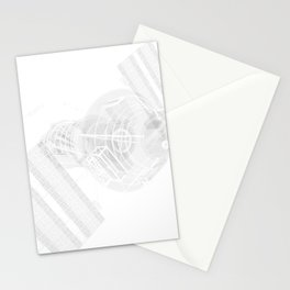 Explorer White and Grey Stationery Cards