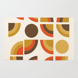 Kosher - retro throwback minimalist 70s abstract 1970s style trend Rug