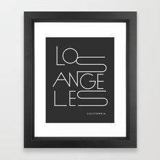 Los Angeles. Framed Art Print
