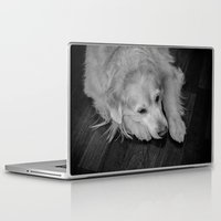 golden retriever Laptop & iPad Skins featuring Golden retriever by Mauricio Togawa