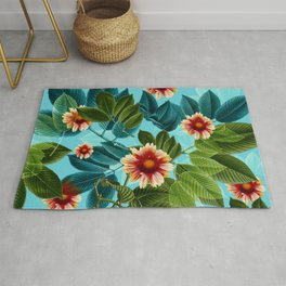 Tropical flowers Hawaii Rug